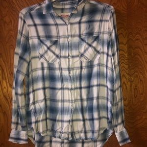 Mossimo plaid button up shirt | size S